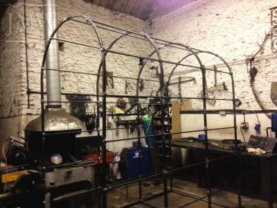 making-iron-garden-arch-donkeywell-forge-blacksmith-gloucestershire