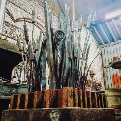 making-reed-railings-blacksmith-gloucestershire