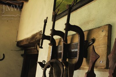 blacksmith-gloucestershire-clamp-rasps-coat-hook