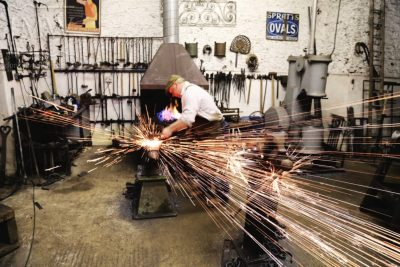 working-blacksmith-forge-ironwork-hammer-anvil-gloucestershire