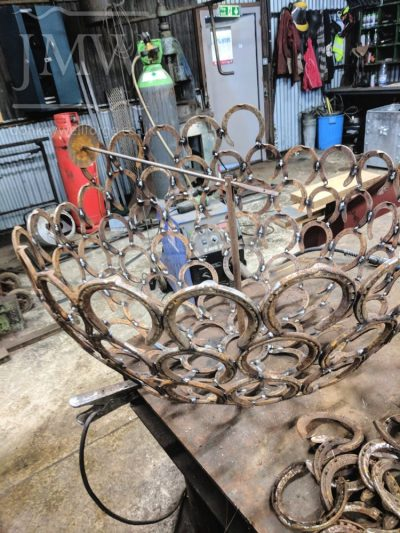making-horseshoe-sphere-art-forge-blacksmith-gloucestershire