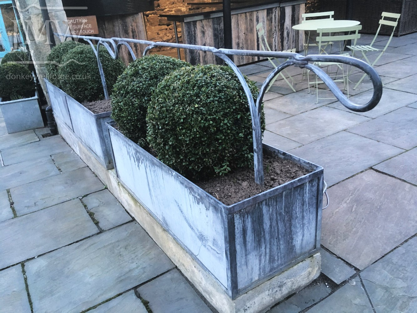 healey-barn-wedding-venue-handrail-lead-finish-donkeywell-forge-forged