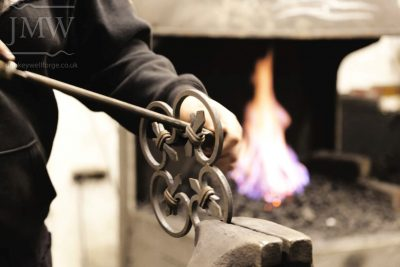 working-blacksmith-forge-gloucestershire-ironwork-filing-bespoke