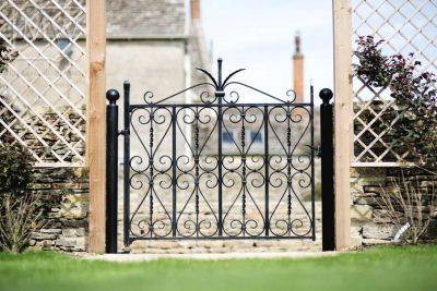 ornamental-ironwork-garden-gate-blacksmith-cotswolds-donkeywell-forge