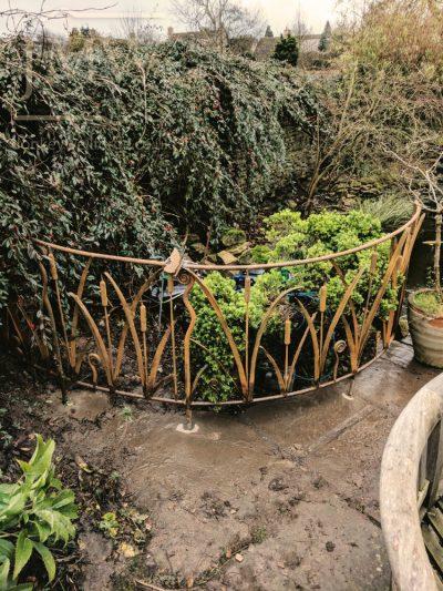 reed-bullrush-railings-garden-cotswolds-ornate-iron-forged-donkeywell