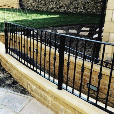 pathway-railing-bespoke-ornate-blacksmith-iron-donkeywell-forge-architectual