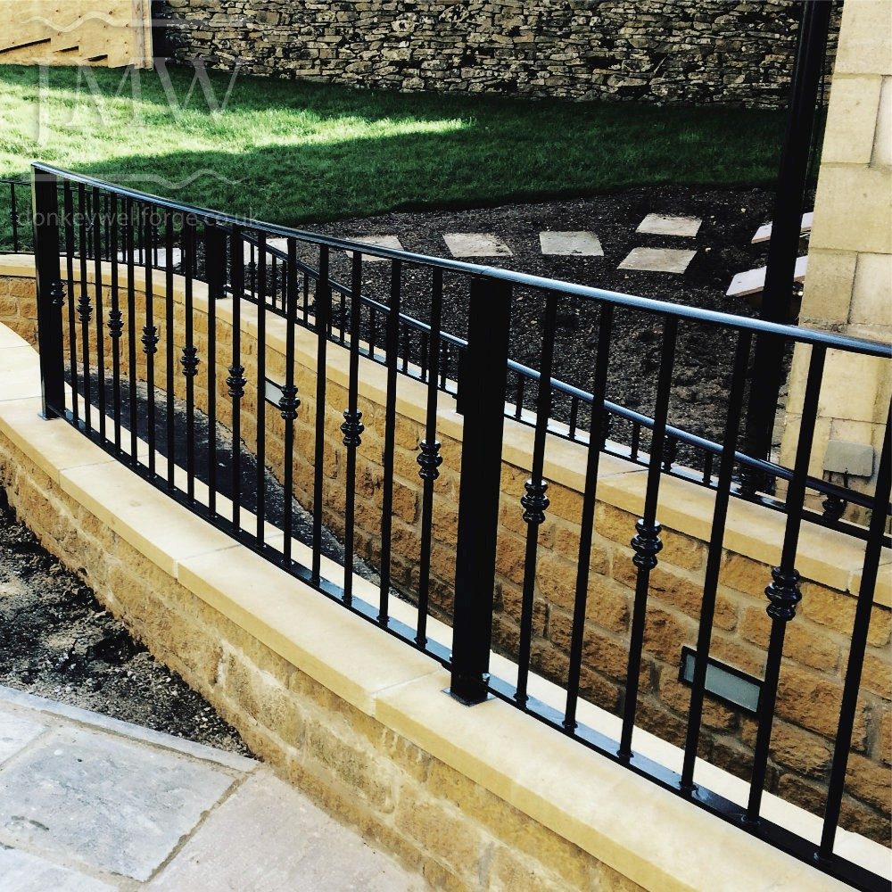 pathway-railing-bespoke-ornate-blacksmith-iron-donkeywell-forge-architectual