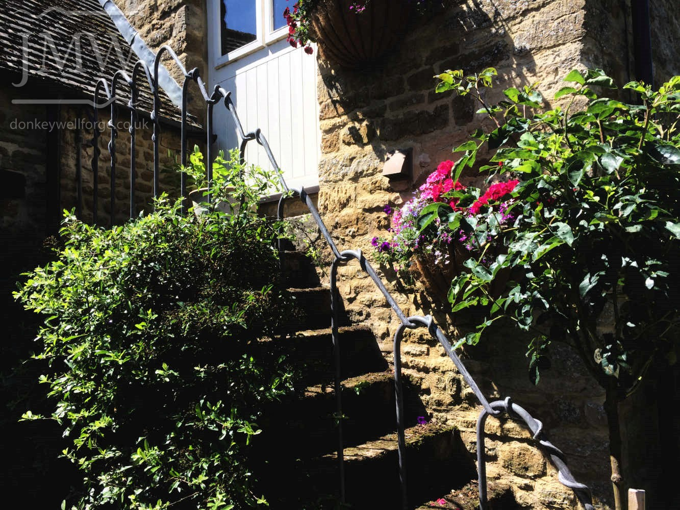 forged-ornate-stair-railing-bespoke-zinc-lead-finish-iron-garden-donkeywell
