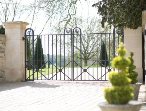 Country Estate True Wrought Iron Courtyard Gates
