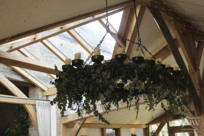 ironwork-hanging-candelabra-forged-wedding-venue-cotswolds-donkeywell-forge
