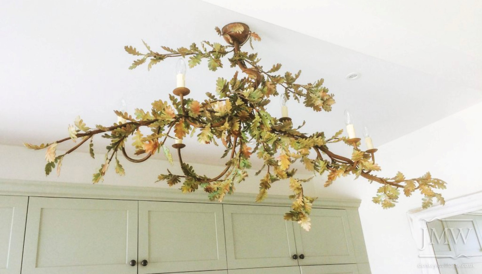 oak-leaf-chandelier-forged-ornate