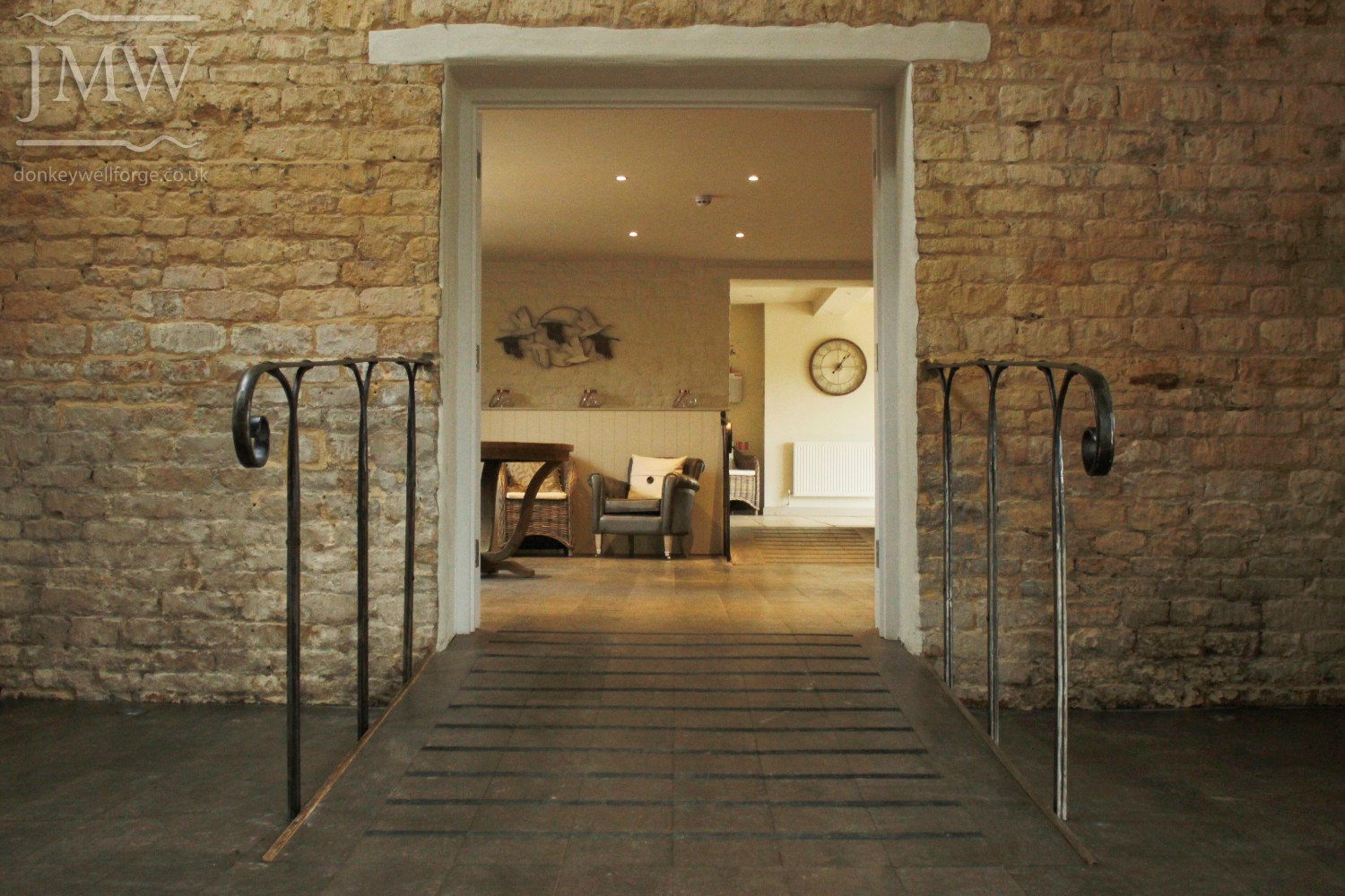 ironwork-handrail-wedding-venue-cotswolds-barn-architectual-rivets