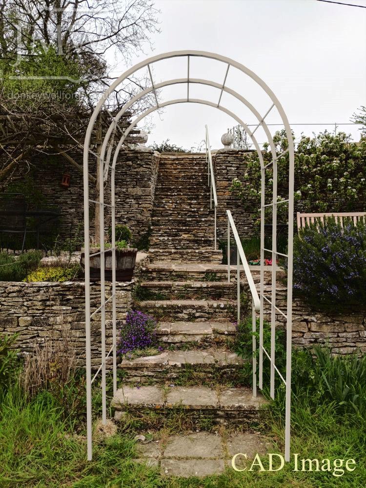 CAD-image-garden-arch-metalwork