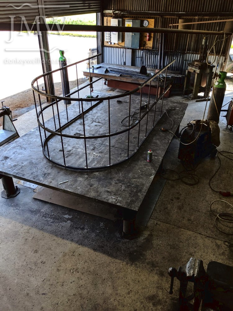 making-garden-arch-metalwork-forge-riveted