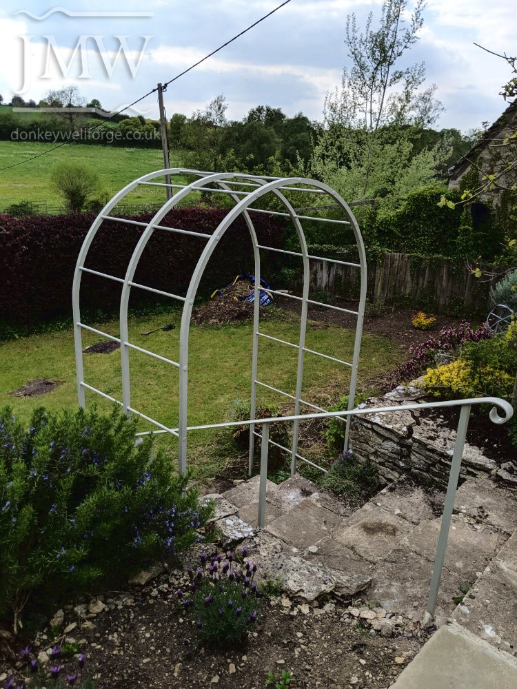 garden-arch-metalwork-riveted-punched-bar