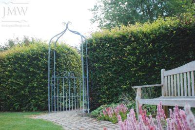 ornate-lead-finish-garden-arch-ironwork