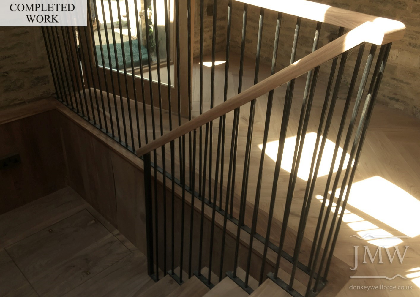 forged-stair-railings-balustrade-ironwork-complete