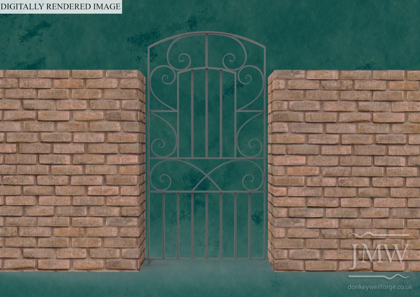 forged-ironwork-ornate-gate