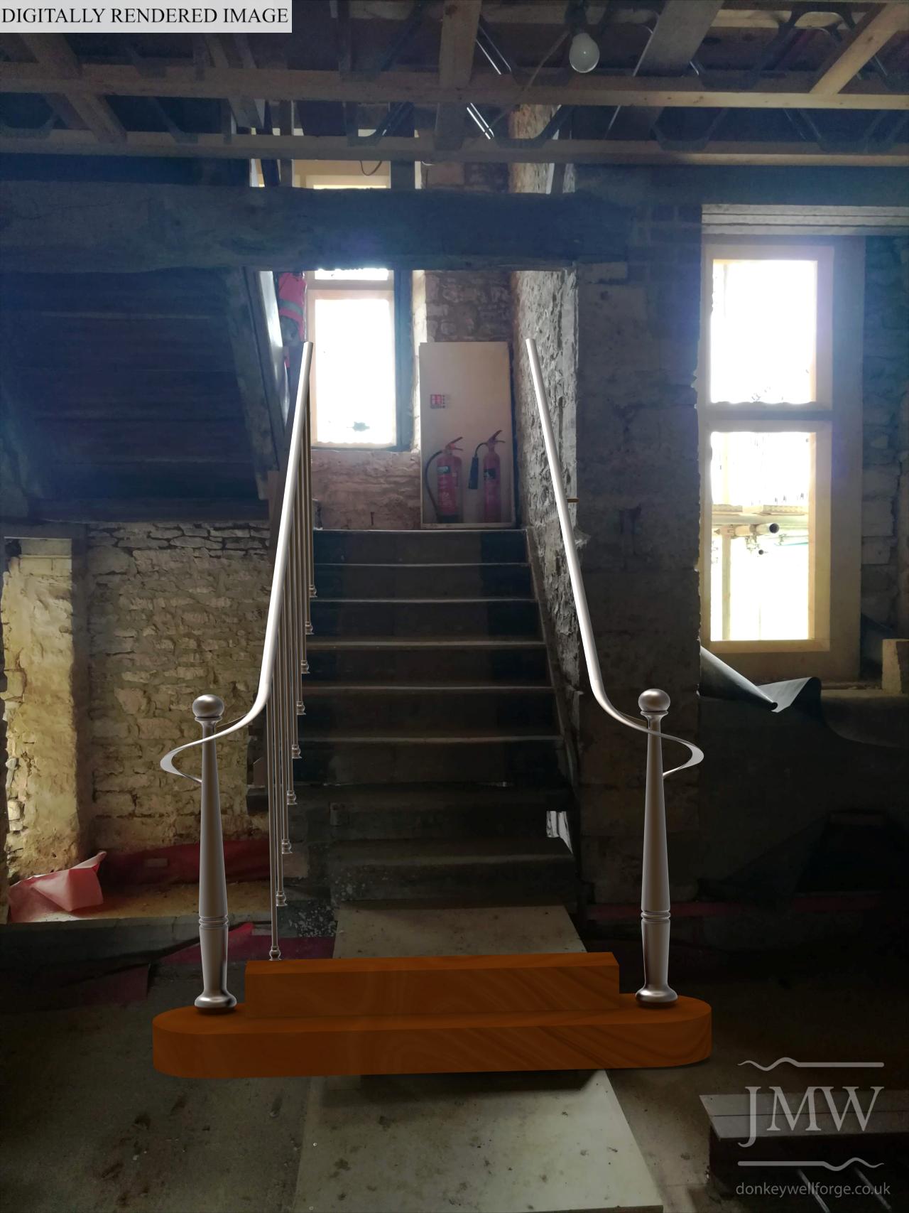 staircase-sweeping-ironwork-balustrade