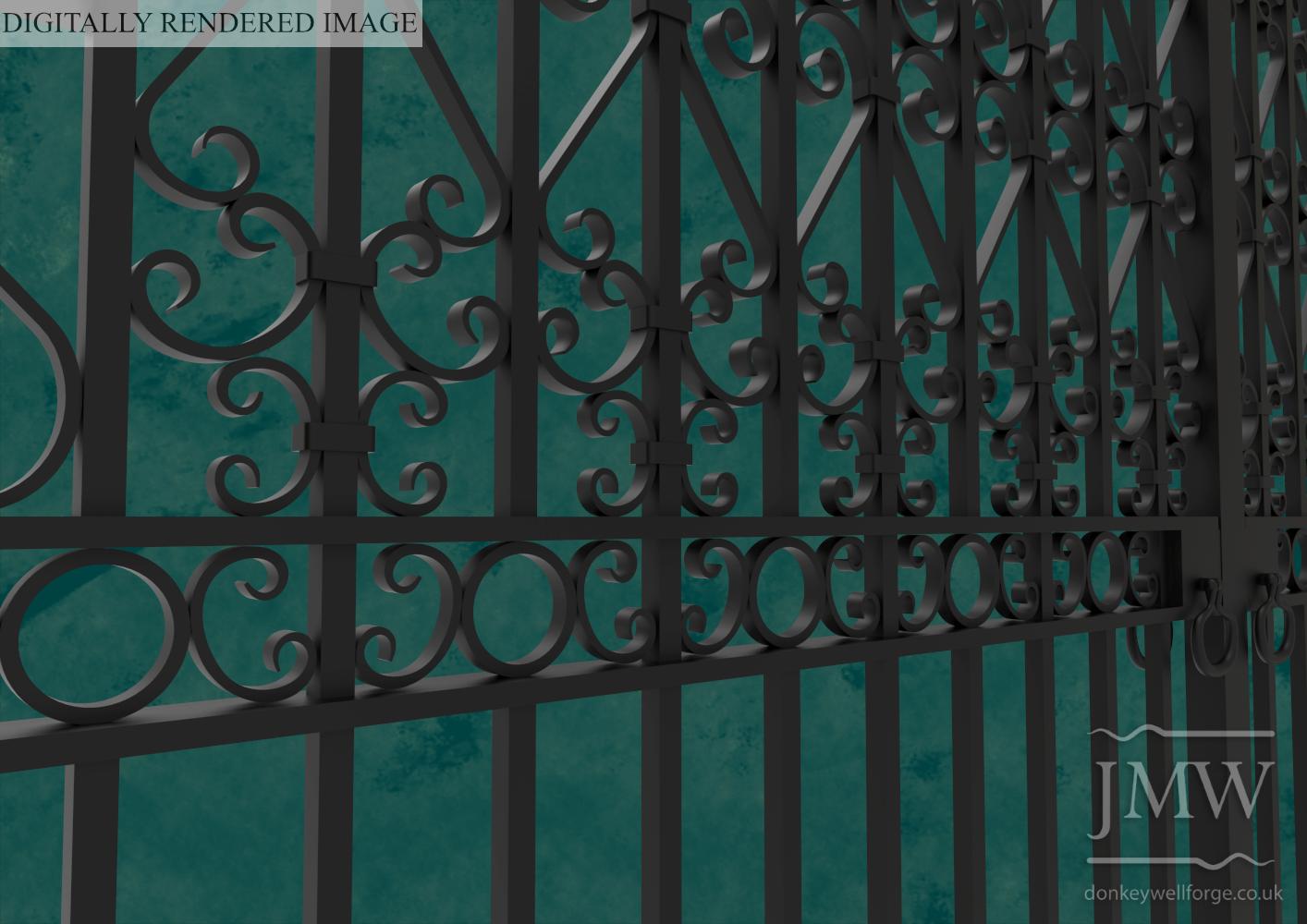 digital-image-estate-gates-ornate-scrollwork-detail