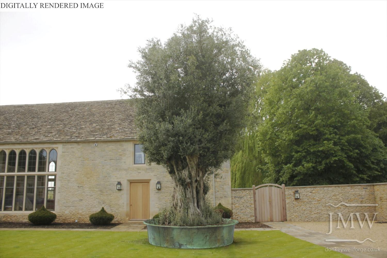 olive-tree-surround-copper-metalwork