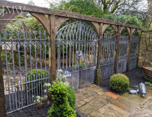 Gothic Garden Railing Panels and Gates