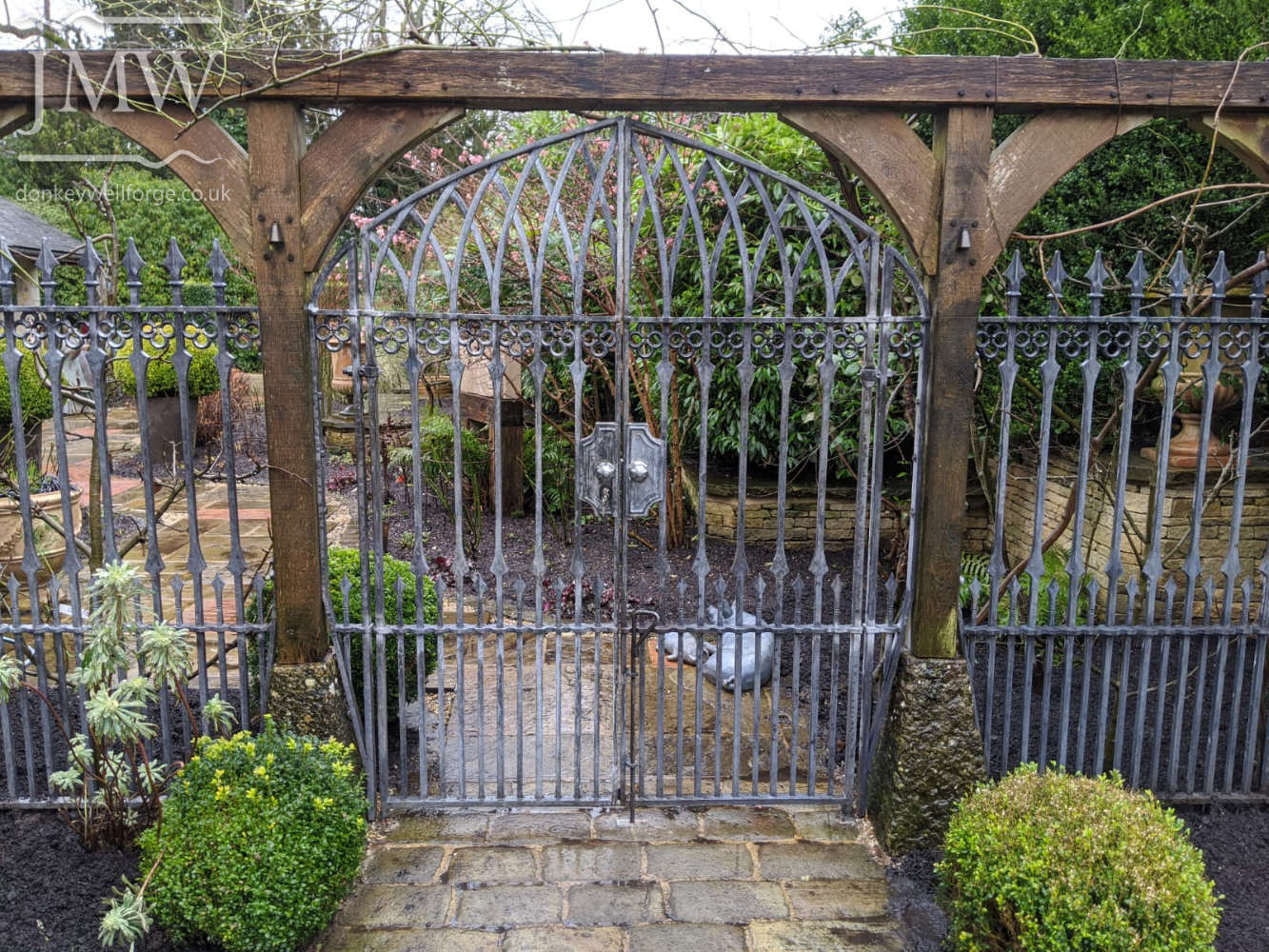 gothic-garden-gates-traditional-ironwork