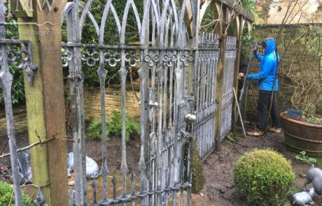 installing-gothic-garden-gates-railings-traditional-ironwork