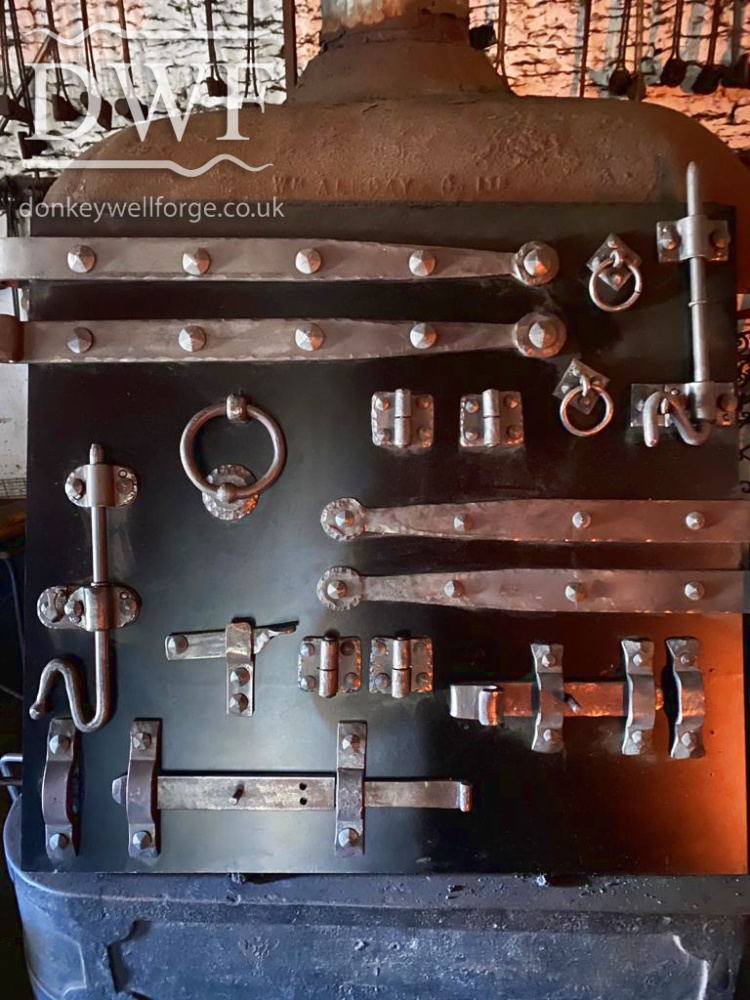 Donkeywell Forge-traditionally-forged-wrought-iron-ironmongery-hinges-locks
