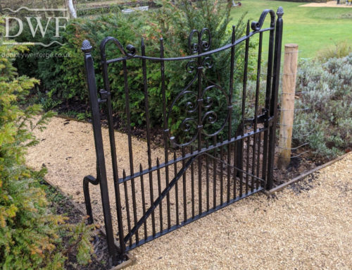 Restored Ironwork Pedestrian Gates