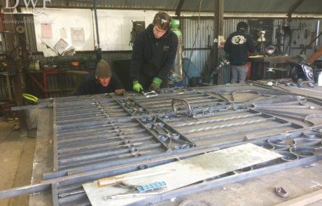 making-ornate-traditional-ironwork-forged-gates-donkeywell-forge-scrollwork