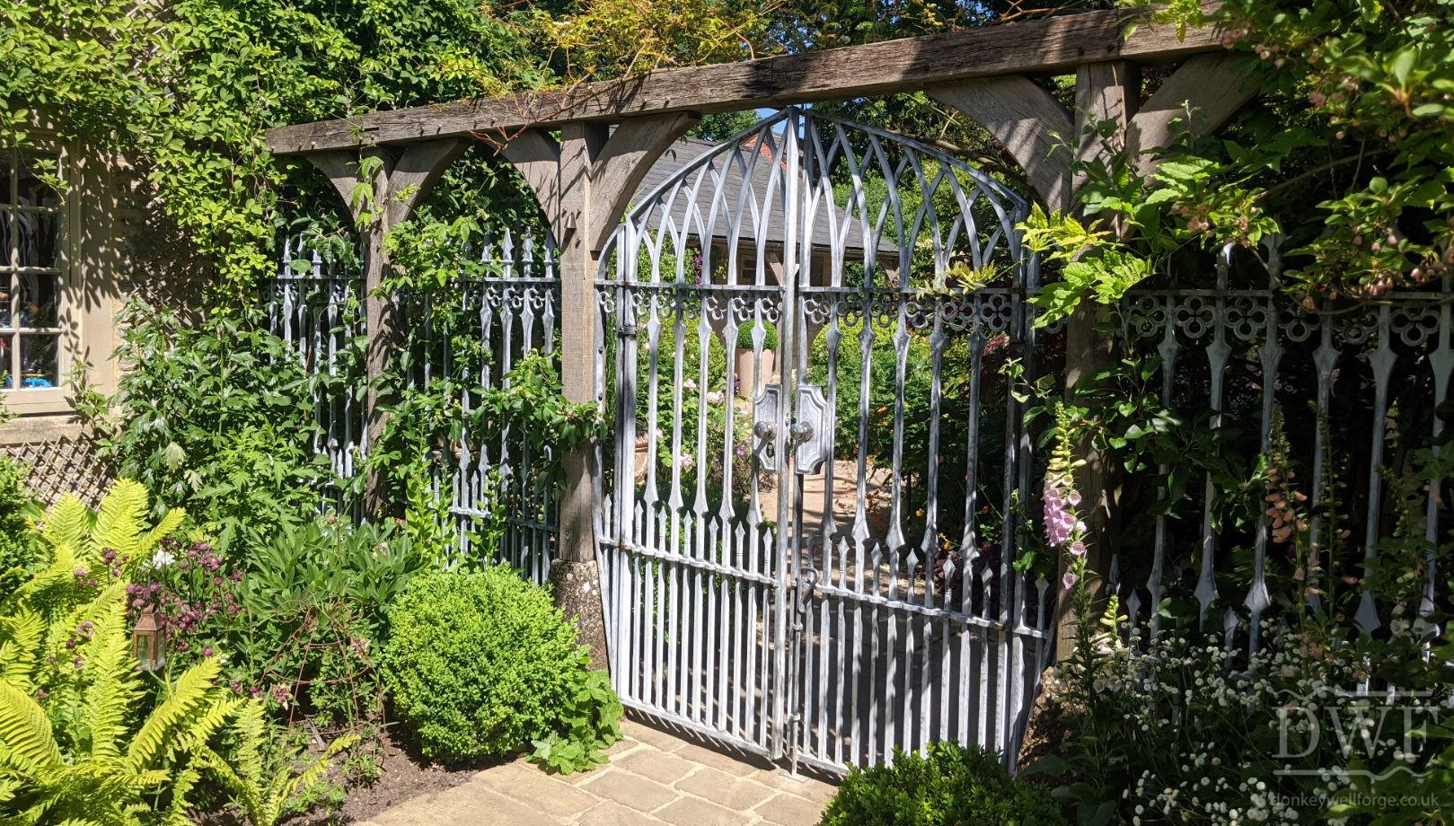 traditional-gothic-ironwork-lattice-forged-gates-railings-garden