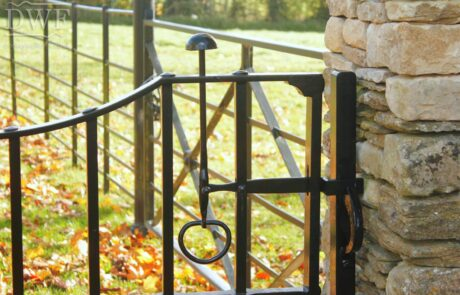 -traditional-ornate-decorative-forged-ironwork-pedestrian-gates-latch-donkeywell-forge