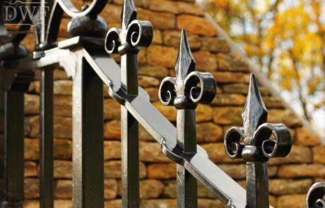 traditional-ornate-decorative-scrollwork-finials-railheads-forged-swellings-ironwork-gates-donkeywell-forge