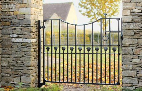 traditional-ornate-decorative-finials-forged-ironwork-pedestrian-gate-latch-swellings-donkeywell-forge
