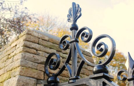 traditional-ornate-decorative-forged-ironwork-pedestrian-gates-scrollwork-casting-donkeywell-forge