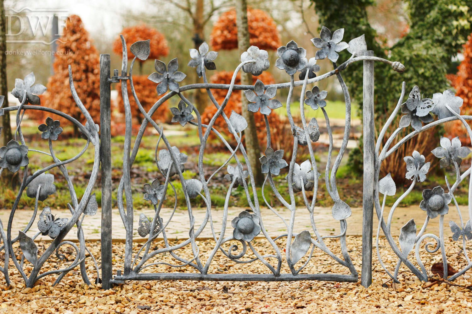 forged-artistic-floral-railings-gate-ironwork-patinated-donkeywell-forge